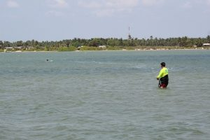 learning kitesurfing in Kalpitiya
